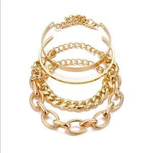Chain Bracelets Gold Layered NEW